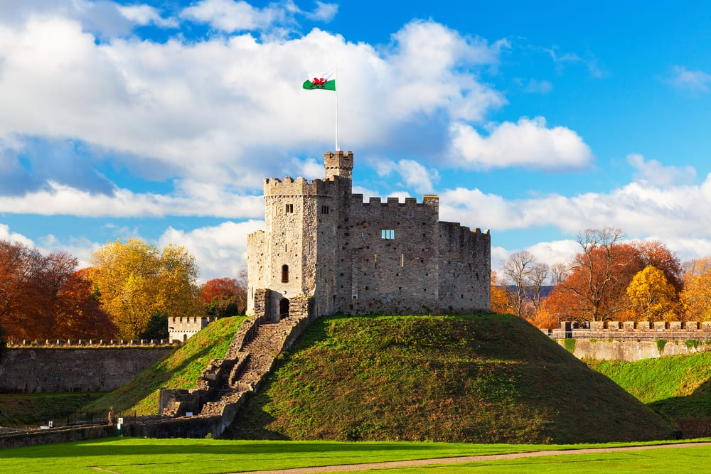 Norman Keep, Cardiff Castle, Autumn, Cardiff, Wales. Cardiff City Breaks
